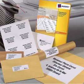 AVERY Boîte de 2700 étiquettes copieur coins carrés 70X31 Blanc DP027-100 photo du produit
