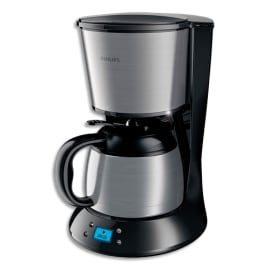PHILIPS Cafetière à filtre Daily 1L acier inoxydable Noir métal, isotherme, 8-12 tasses L21 x H32 x P24cm photo du produit