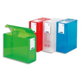 VIQUEL Boîte de classement MAXIDOC, en polypropylène 12/10ème, dos de 12cm, coloris assortis translucide photo du produit