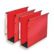 OBLIQUE AZ Paquet de 10 dossiers suspendus ARMOIRE en polypro opaque 5/10e.Fond 80, bouton-pression.Rouge photo du produit