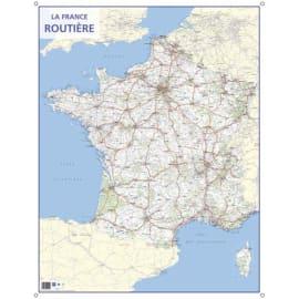 CBG carte murale route de France - Pelliculée format 66 x 84,5 cm - 4 œillets pour suspension photo du produit