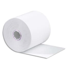 Bobine carte bancaire 57x60x12mm, longueur 40 mètres, papier thermique 55g 1 pli sans BPA photo du produit