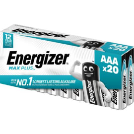 ENERGIZER Blister de 20 piles Max Plus AAA E92 60/120 7638900423174 photo du produit