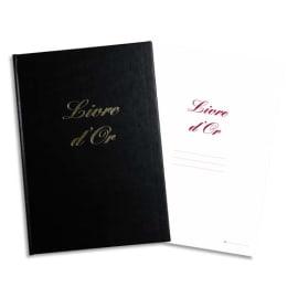 ELVE Livre d'Or format 21x29,7cm Noir 148 pages. Couverture aspect cuir photo du produit
