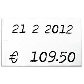 AGIPA Pack de 6 rouleaux de 1000 étiquettes Blanches rectangulaires 26x16mm pour pinces 151992-101419 photo du produit
