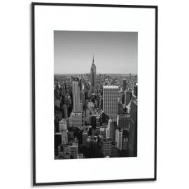 PAPERFLOW Cadre photo contour aluminium coloris Noir, plaque en plexiglas. Format 60 x 80 cm photo du produit
