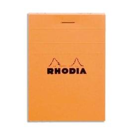 RHODIA Bloc de direction couverture Orange 80 feuilles (160 pages) format A7 réglure 5x5 photo du produit