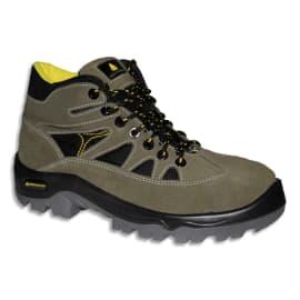 DELTA PLUS Paire de Chaussures Haute Auribeau Vert Noir croûte velours et mesh, semelle PU, Pointure 45 photo du produit