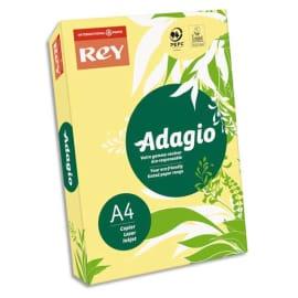 INAPA Ramette 500 feuilles papier couleur pastel ADAGIO canari pastel A4 80g photo du produit