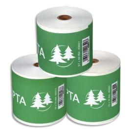EXACOMPTA Bobine caisse et calc 57x70x12mm, 25 mètres, papier 2 plis Blanc/Jaune chimique autocopiant 57g photo du produit