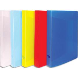 Chemise 3 rabats + élastiques 24x32cm en polypropylène opaque 5/100°. Dos 4cm. 10 coloris photo du produit