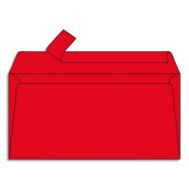 CLAIREFONTAINE Paquet de 20 enveloppes 120g POLLEN 11x22cm (DL). Coloris Rouge groseille photo du produit