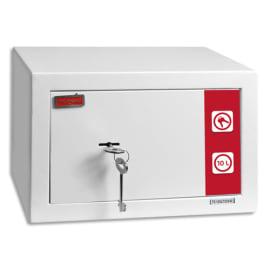 RESKAL Coffre de sécurité SM1 Premium 9,9 litres Blanc, 2 clés fournies - Dim : L31 x H20 x P20 cm photo du produit