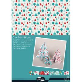 CLAIREFONTAINE Paquet de 40 feuilles carton décor Noël 25x35cm 150g photo du produit