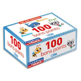 LITO DIFFUSION Boîte de 100 Bons points ABC, recto une lettre et un animal, verso une petite comptine photo du produit