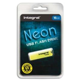 INTEGRAL Clé USB 2.0 NEON 16Go Jaune INFD16GBNEONYL photo du produit