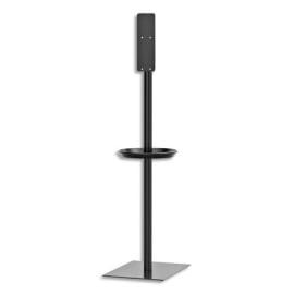 TORK Stand pour Distributeurs de Gels hydro-alcoolique en alu Noir, livré vide, L65,8 x H65,8 x P47,1 cm photo du produit