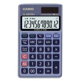 CASIO Calculatrice de poche 12 chiffres conversion euro SL320TER photo du produit