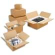 Paquet de 20 caisses américaines simple cannelure en kraft écru - Dimensions : 60 x 40 x 30 cm photo du produit