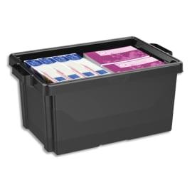 CEP Bac de rangement superposable avec poignée de 48,5 litres coloris Noir photo du produit