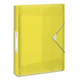 ESSELTE Boîte de classement Colour Ice dos de 4 cm, en polypropylène 7/10ème. Coloris Jaune photo du produit