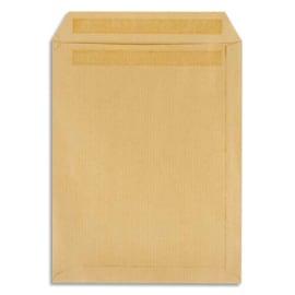 PERGAMY Boîte de 500 pochettes kraft Brun 90g C5 162x229 mm autocollantes photo du produit