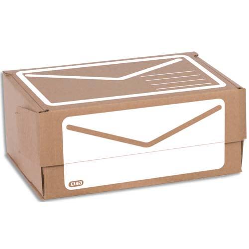 ELBA Boîte d'Expédition en carton ondulé brun Blanc, simple cannelure Format A4 L30 x H12,5 x P21,5 cm photo du produit Principale L