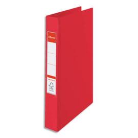 ESSELTE Classeur 4 anneaux VIVIDA en polypropylène, dos 4cm, coloris Rouge photo du produit