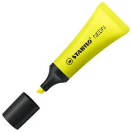 STABILO Surligneur tampon BOSS NEON Jaune, pointe biseautée, encre à base d'eau photo du produit