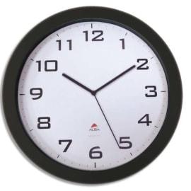 ALBA Horloge murale Horissimo silencieuse grand format à pile 1AA non fournie - D38 cm, P5,11 cm Noir photo du produit