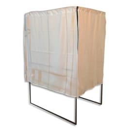 VISO Isoloir pour élections PMR acier Noir, rideau Blanc ignifugé L100xH200xP130 cm, 1 tablette L96xP20cm photo du produit
