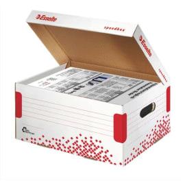 ESSELTE Conteneur SPEEDBOX taille Small pour doc A4+sous-dossiers, coloris Blanc photo du produit