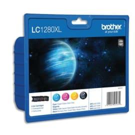 BROTHER Value pack Jet d'encre 4 couleurs (1 Cyan+1 Magenta+1 Jaune+1 Noir) LC1280XLVALBP photo du produit
