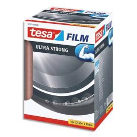 TESA Tour de 10 Adhésifs Tesafilm Ultra Strong 15mm x 60m, transparent et résistant photo du produit
