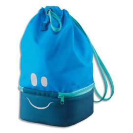 MAPED Sac à Déjeuner Concept enfants Bleu, polyester, partie basse isotherme, yeux bouche réfléchissants photo du produit