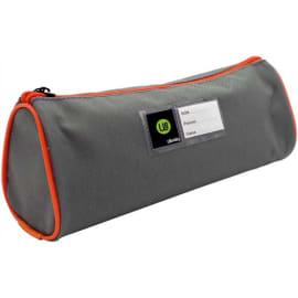 SAFETOOL Trousse écolier ronde - étiquette personnalisable - coloris Gris/Orange photo du produit