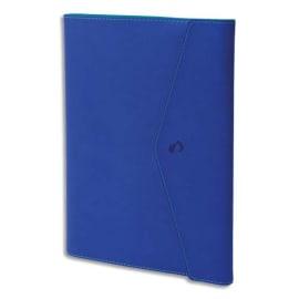 QUO VADIS Agenda Clover Toscana Ministre S spiralé, 1S/2P + rép., papier ivoire - format 16 x 24 cm bleu photo du produit