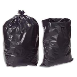 Boîte de 100 sacs poubelles 100 litres Noir pour gravats 140 microns photo du produit