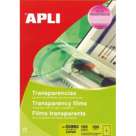 APLI Film transparents pour photocopieur antistatique B/100 photo du produit