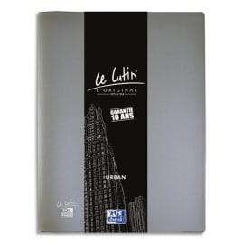 OXFORD Protège documents LUTIN URBAN 80 vues, 40 pochettes. En PVC opaque. Format A4. Coloris gris photo du produit