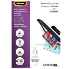 FELLOWES Boîtes de 25 pochettes format A5 80 microns 53960 photo du produit