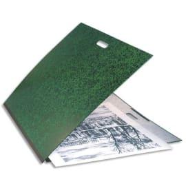 EXACOMPTA Carton à dessin Vert avec poignée et élastique 59 x 72 cm photo du produit