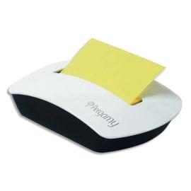 PERGAMY Dévidoir Z-note transparent rechargeable + 1 bloc Z-note 100 feuilles 7,6 x 7,6 cm coloris Jaune photo du produit