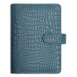 EXACOMPTA Organiseur Exatime 14 Baby Croco 1S/2P, 16 mois SAD, 11x14,5 cm, couverture aimantée grain Bleu photo du produit