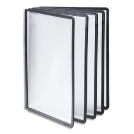 DURABLE Sachet de 5 Pochettes Noir en polypropylène Format A4, pour pupitre d'affichage Sherpa et Vario photo du produit
