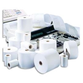 Bobine calculatrice/caisse 57x70x12mm, longueur 47 mètres, papier 60g 1 pli offset Blanc photo du produit