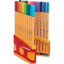 STABILO ColorParade de 20 stylos feutre Point 88. Coloris assortis photo du produit