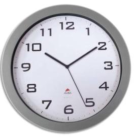 ALBA Horloge murale Horissimo silencieuse grand format en métal, pile AA non fournie - Diamètre 38 cm photo du produit