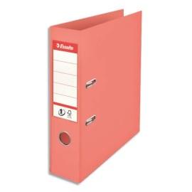 ESSELTE Classeur à levier Colour ice N1 Power en polypropylène, dos de 7,5 cm. Coloris Pêche photo du produit