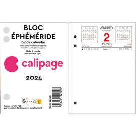CALIPAGE Bloc éphéméride Date à gauche, horaire et rendez-vous à Droite - Format : 8,5 x 11,5 cm photo du produit